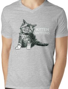 KITTEN MITTONS Mens V-Neck T-Shirt
