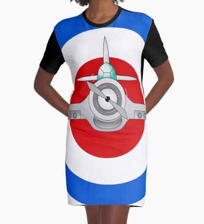 Flight Graphic T-Shirt Dress
