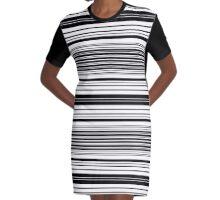 Pinstripes Graphic T-Shirt Dress