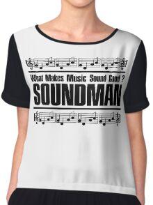 Good Soundman Black Chiffon Top
