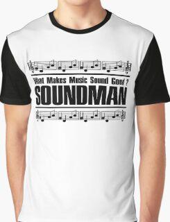 Good Soundman Black Graphic T-Shirt