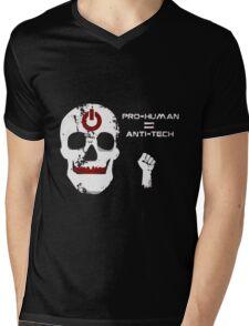 Anti Tech - Pro Human Mens V-Neck T-Shirt