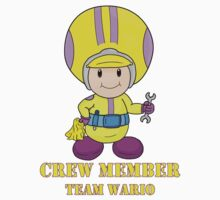Team Wario Crewmember One Piece - Short Sleeve