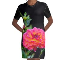 Fushia Dalia Graphic T-Shirt Dress