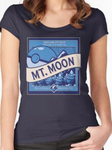 Mt. Moon Pokemon Beer Label Women's Fitted Scoop T-Shirt