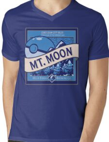 Mt. Moon Pokemon Beer Label Mens V-Neck T-Shirt