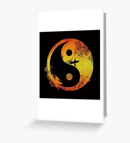 yin yang surfin V1 Greeting Card