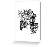 catrina and flowers Greeting Card