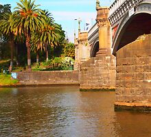 Bridge Across the Yarra Melbourne VIC Australia by Margaret Morgan (Watkins)