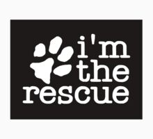 I'm The Rescue Dog Adoption Sticker Shirt Poster Pillow Cards by 8675309