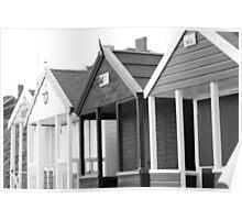 Beach Huts, Southwold, Suffolk, UK Poster