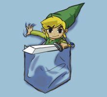 Wind Waker Link in a Pocket Light blue by HeartlessArts