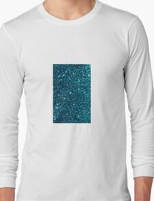 midnight blue sparkle Long Sleeve T-Shirt
