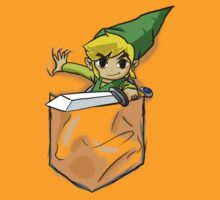 Wind Waker Link in a Pocket orange by HeartlessArts