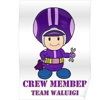 Team Waluigi Crewmember Poster