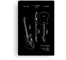 Fender Telecaster Guitar Patent 1951 Canvas Print