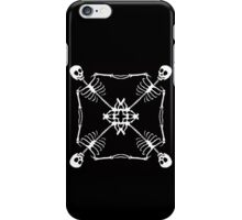 Mutant Pirate Flag, black and white iPhone Case/Skin