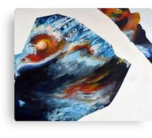 Abstract, Water and Sunset Acrylic Painting Canvas Print