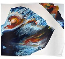 Abstract, Water and Sunset Acrylic Painting Poster