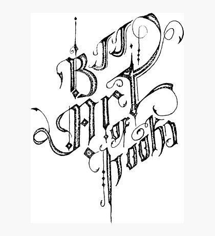 BJJ ART OF HOOKS Photographic Print