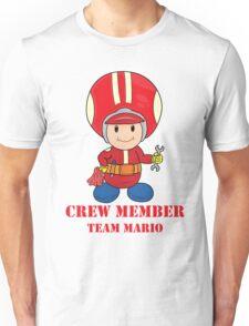 Team Mario Crewmember Unisex T-Shirt