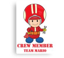 Team Mario Crewmember Canvas Print