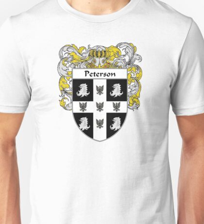 Peterson Coat of Arms / Peterson Family Crest Unisex T-Shirt
