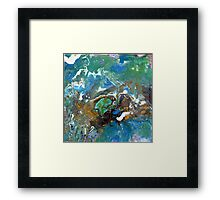 Earth, Abstract, Fluid, Painting, colourful Framed Print