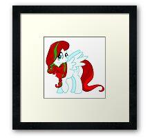 Christmas Fluttershy Framed Print