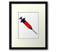 Syringe blood weight loss medicine Framed Print