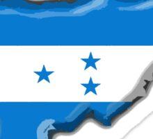 Honduras Map with Honduran Flag Sticker