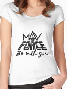 Star Wars - May the force be with you Women's Fitted Scoop T-Shirt