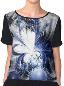 Blizzard - Abstract Fractal Artwork Chiffon Top
