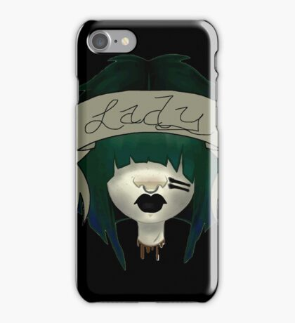 Lady's Severed Head  iPhone Case/Skin