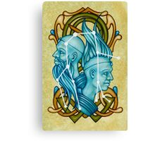 Gemini Twins Castor and Pollux Constellation Canvas Print