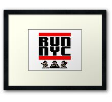 Run New York Framed Print