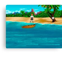 MONKEY ISLAND BEACH Canvas Print