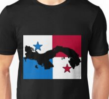 Panama Map With Panamanian Flag Unisex T-Shirt