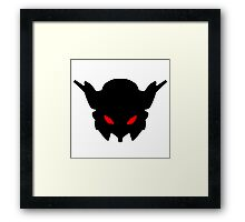 Insignia #1 Red Framed Print