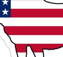 American Flag moose Sticker