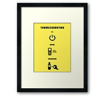 Troubleshooting (dark shirt) Framed Print
