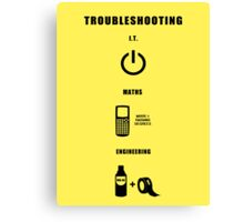 Troubleshooting (dark shirt) Canvas Print