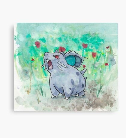Nidoran Pokemon Canvas Print
