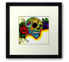 Skull and colors  Framed Print
