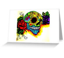 Skull and colors  Greeting Card