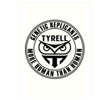 TYRELL CORPORATION - BLADE RUNNER (BLACK) Art Print