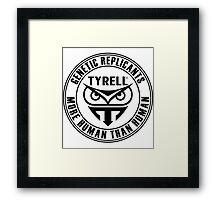 TYRELL CORPORATION - BLADE RUNNER (BLACK) Framed Print