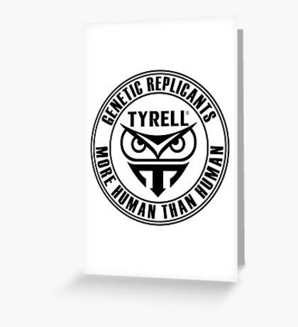 TYRELL CORPORATION - BLADE RUNNER (BLACK) Greeting Card