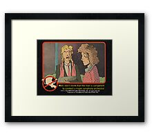 Ghostbusters Trading Card Framed Print