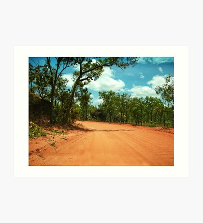 Bull Dust Road Art Print